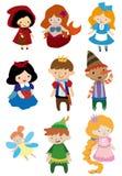 Povos da história dos desenhos animados Imagem de Stock