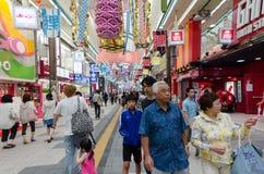 Povos da multidão em Sapporo Japão Fotografia de Stock Royalty Free