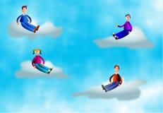Povos da nuvem ilustração royalty free