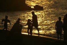 Povos da praia Foto de Stock