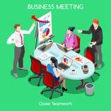 Povos da sala 04 do negócio isométricos ilustração stock