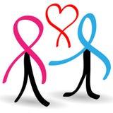 Povos da sustentação contaminados com AIDS ilustração stock
