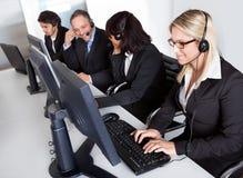 Povos da sustentação do serviço de atenção a o cliente imagens de stock
