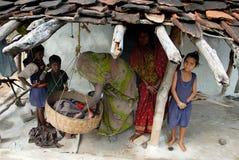Povos da vila de Khajuraho Fotos de Stock Royalty Free