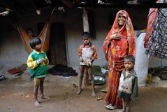 Povos da vila de Khajuraho Imagens de Stock