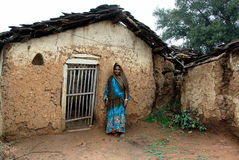 Povos da vila de Khajuraho Foto de Stock