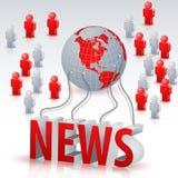 Povos das notícias do mundo 3D Foto de Stock