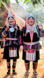 Povos de Akha do tribo do monte em Tailândia do norte, Chiangrai Fotos de Stock