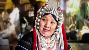 Povos de Akha em Tailândia do norte, Chiangrai Fotografia de Stock