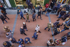 Povos de Amsterdão Nieuwendijk Foto de Stock Royalty Free