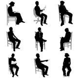 Povos de assento ilustração stock