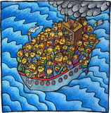 Povos de barco Imagem de Stock Royalty Free
