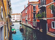 Povos de barco do nicecity do instagood de Veneza Italia Europa Fotografia de Stock