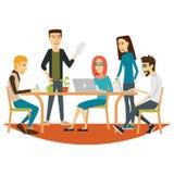 Povos de Coworking na reunião Imagens de Stock Royalty Free