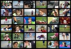 Povos de Digitas foto de stock royalty free