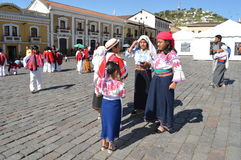 Povos de Equador fotografia de stock