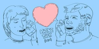 Povos de fala do telefone ilustração stock