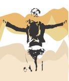 Povos de Grunge Ilustração do Vetor