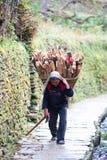 Povos de Gurung, Nepal Fotografia de Stock