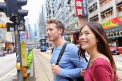 Povos de Hong Kong Causeway Bay que wallking fotografia de stock royalty free