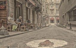 Povos de Istambul foto de stock