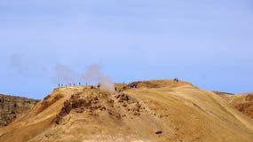 Povos de Kerlingarfjöll na montanha Fotografia de Stock