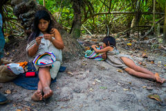 Povos de Kogi, grupo étnico nativo, Colômbia imagem de stock royalty free