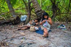 Povos de Kogi, grupo étnico nativo, Colômbia fotos de stock