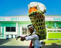 Povos de Myanmar imagens de stock