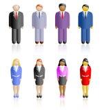 Povos de nações diferentes Imagens de Stock Royalty Free