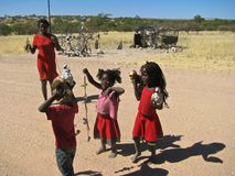 Povos de Namíbia que vendem o objeto Fotografia de Stock