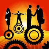 Povos de negócio na roda denteada ilustração royalty free