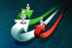 Povos de negócio na seta do crescimento ilustração stock