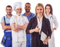 Povos de profissões diferentes Foto de Stock