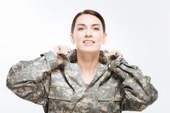 Povos de proteção inspirados da mulher pensativa Foto de Stock