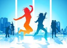 Povos de salto felizes Fotos de Stock