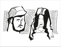 Povos de Skech ilustração stock