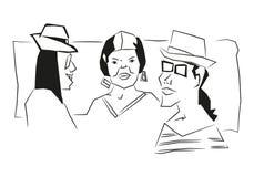 Povos de Skech ilustração royalty free