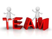 Povos de TEAM Concept Text With White 3d Trabalhos de equipa do negócio ilustração do vetor
