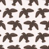 Povos de voo Art Bird Seamless Vetora Pattern Mão tradicional tirada ilustração do vetor