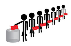 Povos de votação Imagem de Stock