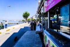 Povos diários e ruas da cidade de Cinarcik - Turquia Imagens de Stock Royalty Free