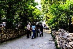 Povos diários e ruas da cidade de Cinarcik - Turquia Foto de Stock Royalty Free