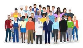 Povos diferentes, profissões diferentes, ilustração do vetor Imagens de Stock