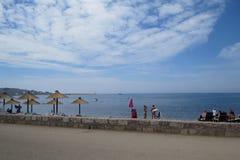 Povos do banho de sol na costa adriático Fotografia de Stock Royalty Free