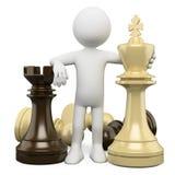 povos do branco 3D. Xadrez ilustração royalty free