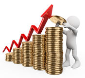 povos do branco 3d Conceito do crescimento principal Imagem de Stock