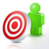 Povos do bullseye 3D Fotos de Stock
