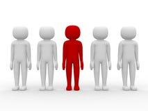 povos do ícone 3d - liderança e equipe Foto de Stock Royalty Free