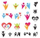 Povos do coração ilustração do vetor